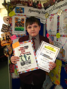 Year 9 pupil Ciaran Smyth was placed 2nd in the bookcover competition with his winning deisgn