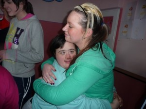 Janine Fearon with teenage girl at Down's Syndrome Day Centre 2