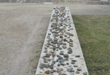 Memorial stones left by visitors