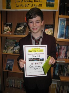 Cathal Murphy received 2nd place in the Year 10 Poster competition