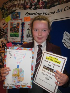 Maeve McShane, Year 8 was Highly Commended for her bookmark.